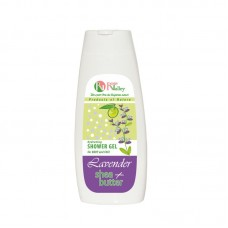 SHOWER GEL LAVENDER + SHEA FOR BODY AND FACE - HYDRATING 250 ML.