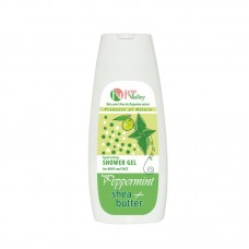 SHOWER GEL MINT + SHEA FOR BODY AND FACE - HYDRATING 250 ML.