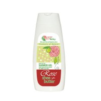 SHOWER GEL ROSE + SHEA FOR BODY AND FACE – HYDRATING 250 ML.