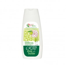 SHOWER GEL WHITE ROSE + SHEA FOR BODY AND FACE - HYDRATING 250 ML.