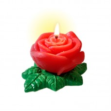 SCENTED CANDLE ROSE WITH BASE 60 g.