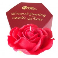 FLOATING CANDLE ROSE 300 g - SCENTED