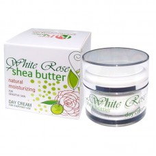 DAY CREAM WHITE  ROSE + SHEA WITH ROSE WATER 50 ML.