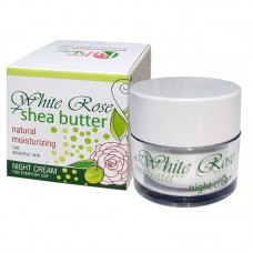 NIGHT CREAM WHITE ROSE + SHEA WITH ROSE WATER 50 ML.