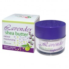NIGHT CREAM LAVENDER + SHEA 50 ML.