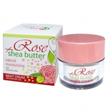 NIGHT CREAM ROSE + SHEA WITH ROSE WATER 50 ML.