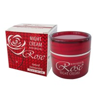 NIGHT CREAM WITH ROSE OIL 50 ML.