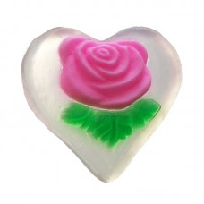 NATURAL SOAP ROSE HEART 30 g.