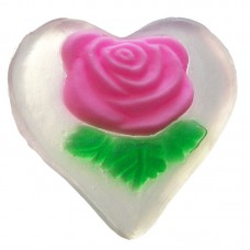 NATURAL SOAP ROSE HEART 50 g.