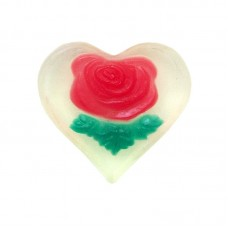 NATURAL SOAP ROSE HEART 15 g.
