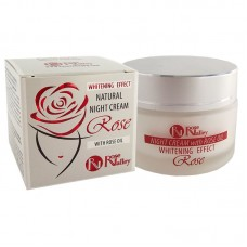 NATURAL NIGHT CREAM WITH WHINTENING EFFECT AND ROSE OIL 40 ml.